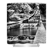 Gnoll Country Park 4 Mono Shower Curtain
