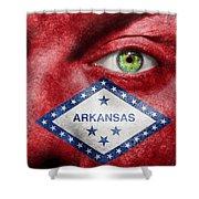 Go Arkansas  Shower Curtain by Semmick Photo
