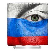 Go Russia Shower Curtain