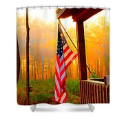 God Country Home Shower Curtain