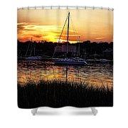 Goddard Marina  Shower Curtain