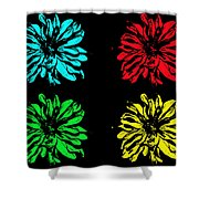 Godess Pop Art Shower Curtain