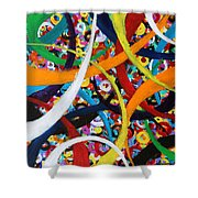 Going In Circles Shower Curtain