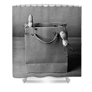 Going Shopping 01 Shower Curtain by Nailia Schwarz