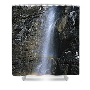 Going To The Sun Road Waterfall Shower Curtain