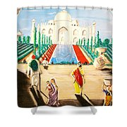 Going To The Taj. Shower Curtain