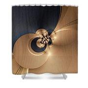 Gold And Indigo Shower Curtain