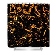 Gold Bokeh Lights Abstract Shower Curtain