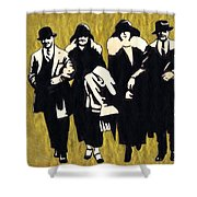 Gold Couples Shower Curtain