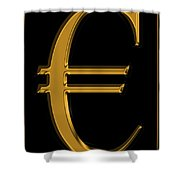 Gold Euro  Shower Curtain