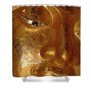 Gold Face Of Buddha Shower Curtain