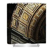 Gold Inlay Arches St. Peter's Basillica Shower Curtain