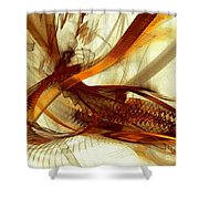 Gold Inspiration Shower Curtain