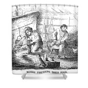 Gold Mining Camp, 1853 Shower Curtain