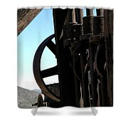 Gold Mining Stone Crusher Shower Curtain