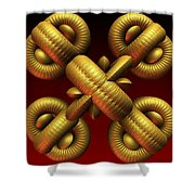 Gold One Shower Curtain