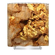 Gold Ore Shower Curtain