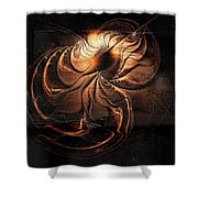 Gold Relic Shower Curtain