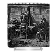 Gold Rush: Miners, 1887 Shower Curtain