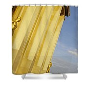 Gold Statue . Trocadero. Paris Shower Curtain
