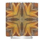 Golden Abstarct Energy Shower Curtain