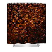 Golden Abstract Shower Curtain