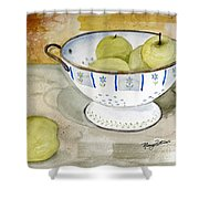 Golden Apples Shower Curtain