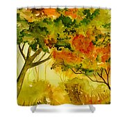Golden Autumn Day Shower Curtain