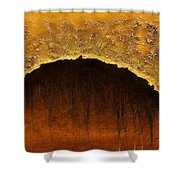 Golden Cave Shower Curtain