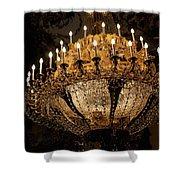 Golden Chandelier Shower Curtain