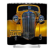 Golden Chevrolet Shower Curtain
