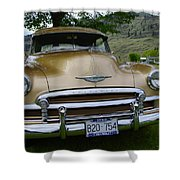 Golden Chevy Shower Curtain