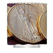 Golden Coins II Shower Curtain