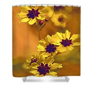 Golden Coreopsis Wildflowers  Shower Curtain