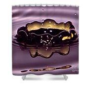 Golden Drop Shower Curtain