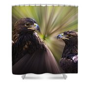 Golden Eagles Shower Curtain