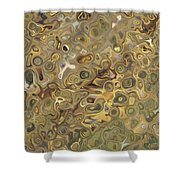 Golden Fluidity Shower Curtain