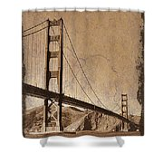 Golden Gate Bridge Sepia Shower Curtain