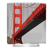 Golden Gate Bridge-touch Of Color Shower Curtain