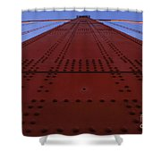 Golden Gate Bridge Vertical Shower Curtain