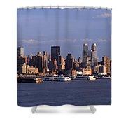 Golden Glow Of New York City Shower Curtain