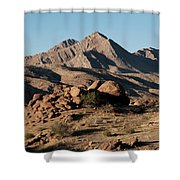 Golden Gold Butte Shower Curtain
