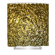 Golden Ice Crystals Shower Curtain