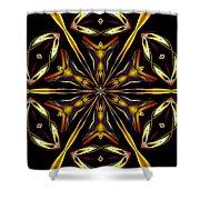 Golden Kaleidoscope Shower Curtain