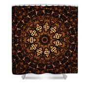 Golden Mandala 6 Shower Curtain