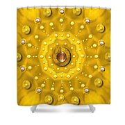 Golden Mandala With Pearls Shower Curtain