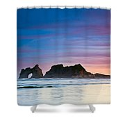 Golden Morning At A Beach  Shower Curtain