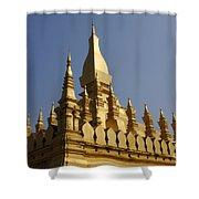 Golden Palace Laos 2 Shower Curtain