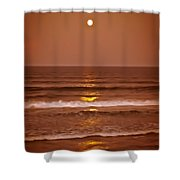 Golden Pathway To The Shore Shower Curtain