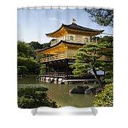 Golden Pavilion, A Buddhist Temple Shower Curtain